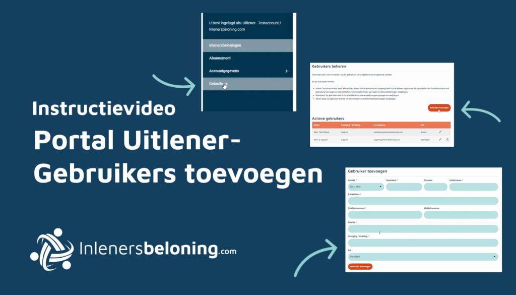 Portal Uitlener - Gebruikers toevoegen