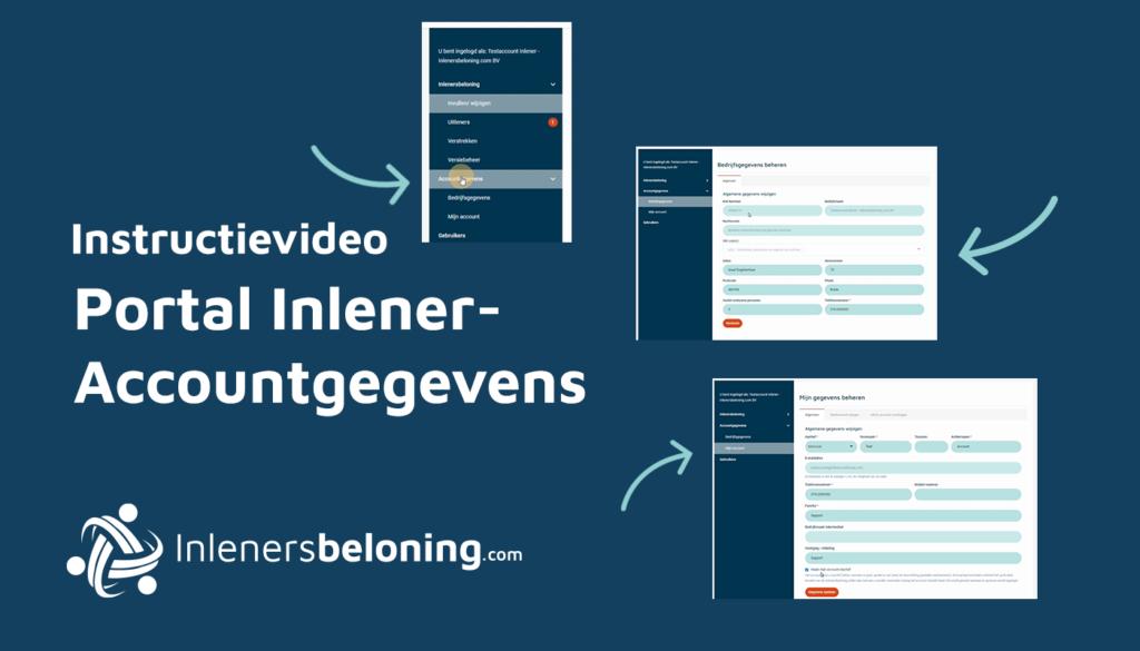 Portal inlener - Accountgegevens