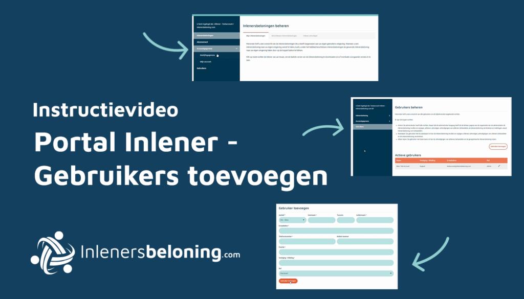 Portal inlener - Gebruikers toevoegen