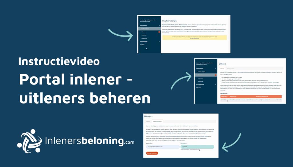 Portal inlener - Uitleners beheren